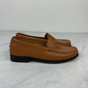 Tod's Light Brown Structured Loafers, Size 5